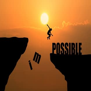 man-jumping-impossible-possible-cliff-sunset-background-business-concept-idea