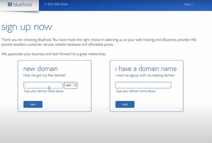 Bluehost-new-domain