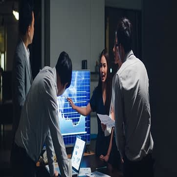 asia-businessmen-businesswomen-meeting-brainstorming-ideas-conducting-business-presentation-project-colleagues-working-together-plan-success-strategy-enjoy-teamwork-small-modern-night-office